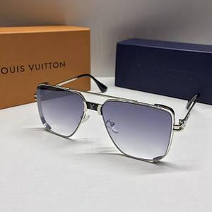Чоловічі окуляри авіатори Louis Vuitton Фіолетові з градієнтом AAA Copy