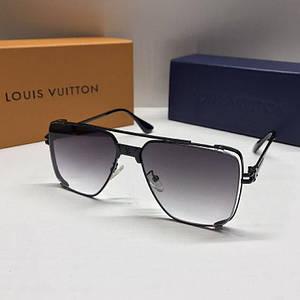 Чоловічі окуляри авіатори Louis Vuitton Чорні з градієнтом AAA Copy
