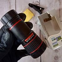 Съемный универсальный 8x обьектив-прищепка телефона, телескоп (Оригинальные фото)