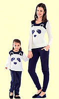 Красивая пижама для девочки  с пандой   Nicoletta 85131