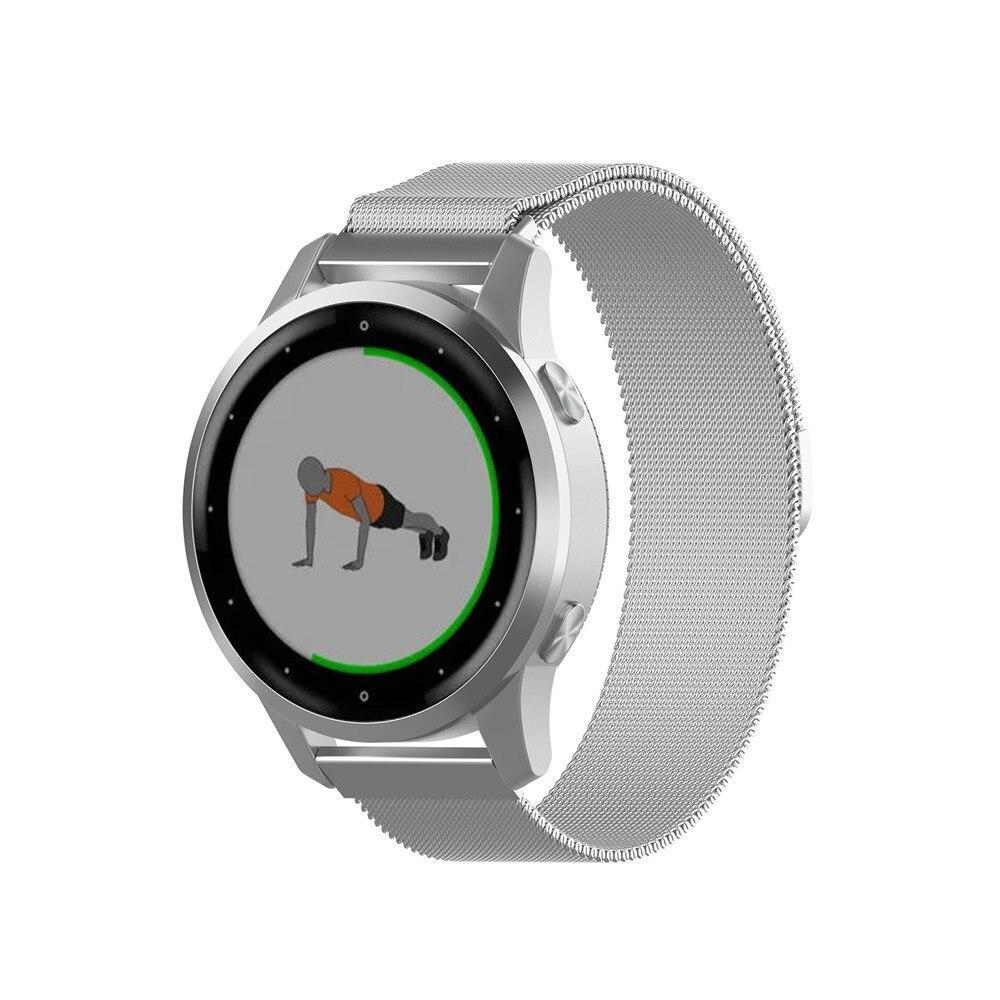 Миланский сетчатый ремешок Primo для часов Garmin Vivoactive 4S - Silver