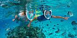 Дорослі полнолицевые окуляри для плавання FREE BREATH (L/XL) M2068G з кріпленням для камери, фото 9