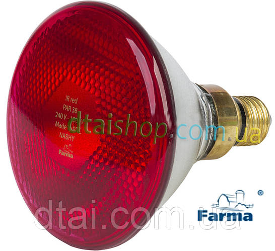 Лампа для обогрева PAR Farma 100 Вт (Польша)