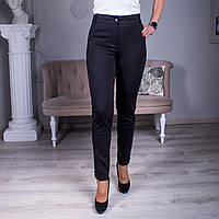 """Женские классические брюки """"Кети"""" в чёрном цвете размеры от 44 до 58"""