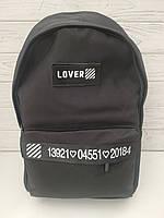Рюкзак городской стильный  хорошее качество размер 30x40x15 черный, фото 1