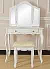 Стол косметический с зеркалом и стулом Good Home W-HY-220 туалетный столик, фото 2