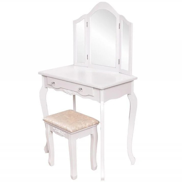 Стол косметический с зеркалом и стулом Good Home W-HY-220 туалетный столик