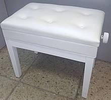Банкетка для піаніно регульована Viva Pianos White