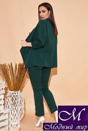 Женский брючный костюм тройка зеленый (р. 42, 44, 46, 48, 50, 52) арт. 34-449, фото 2