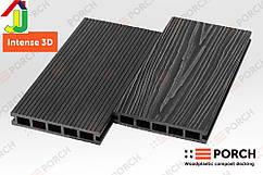 Террасная доска Porch Intense Eben 3D 3000x150x24, композитная, дерево-полимерная доска, для террасы,веранды