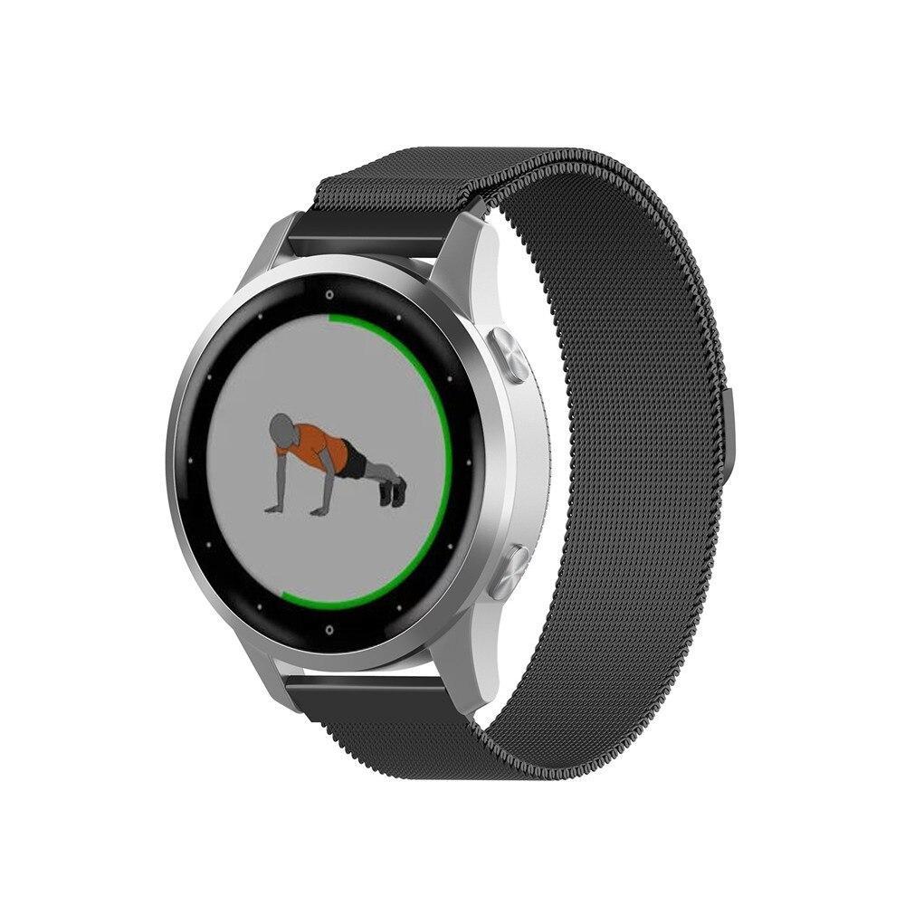 Миланский сетчатый ремешок Primo для часов Garmin Vivoactive 4S - Black