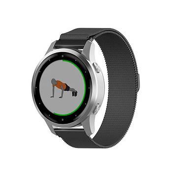 Міланський сітчастий ремінець Primo для годин Garmin Vivoactive 4S - Black