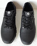 Мужские кожаные чёрные  кроссовки  треккинговая подошва, фото 5