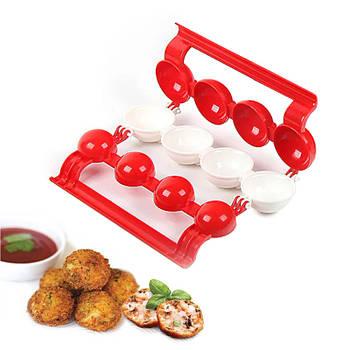 Форма для изготовления мясных фаршированных шариков Stuffed Ball Maker Red + White кухонная