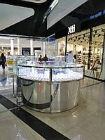 Торговые острова , ювелирные витрины , прилавки . свет для витрин торговое оборудование для Торговых Центров