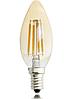 Светодиодная лампа свеча Filament 4Вт Е14 C37 золото 2200K