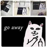 """Декоративний килимок - """"Go Away"""" - 60 х 40 см"""