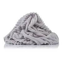 Отрез Плюш Minky Stripes светло-серый 55х160 см