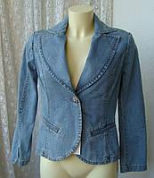 Жакет женский пиджак джинс вышивка бренд Claru р.44 3656
