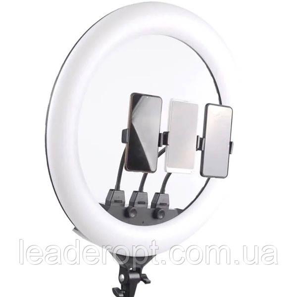 ОПТ Професійна кільцева LED лампа SLP-G63 55 см з трьома власниками, штативом і пультом