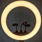 ОПТ Професійна кільцева LED лампа SLP-G63 55 см з трьома власниками, штативом і пультом, фото 4