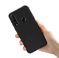Чехол силиконовый для Huawei Honor 10i черный (хуавей хонор 10и)