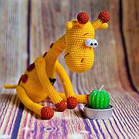 """Вязаная игрушка """"Жираф мечтательный необыкновенный"""", фото 1"""