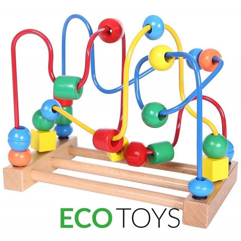 Лабіринт дерев'яний дитячий Ecotoys Mula HJD93312 для дітей