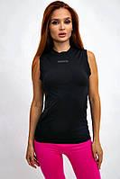 Майка женская спортивная для занятия спортом (черный, р.S-XXL)