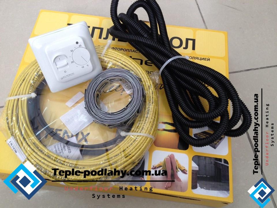 Тонкий нагрівальний кабель під плитку Чехія In-therm, 2,7 м.кв (550 Вт) Серія RTC 70.26
