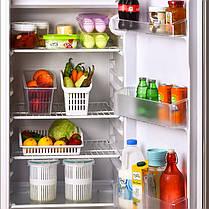 Органайзер для холодильника на 1 отделение узкий белый, фото 2