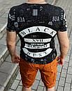 """Чоловіча футболка """" Black """", фото 3"""