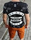 """Мужская футболка """" Black """", фото 3"""