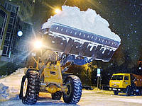Уборка снега техникой круглосуточно