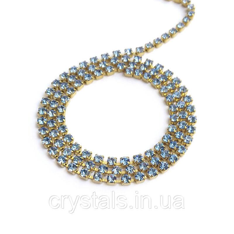 Страхова ланцюг Preciosa (Чехія) ss8.5 Sapphire Light/латунь