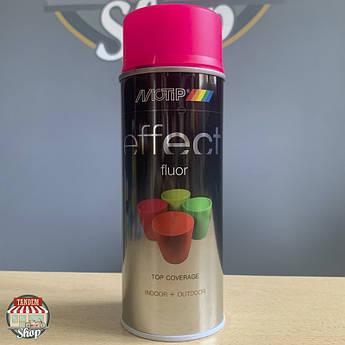 Флуоресцентна фарба Motip Deco Effect Fluor, 400 мл Аерозоль Рожевий