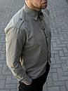 Мужская рубашка хаки с погонами, фото 3