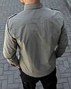Мужская рубашка хаки с погонами, фото 2