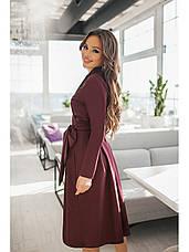 Сукня бордо з пишною спідницею демісезонне, фото 3