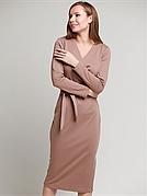 Сукня з поясом Француз в кольорі капучіно