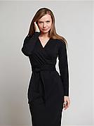 Сукня з поясом Француз чорне
