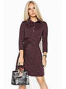 Ангоровое плаття сорочка коричневе