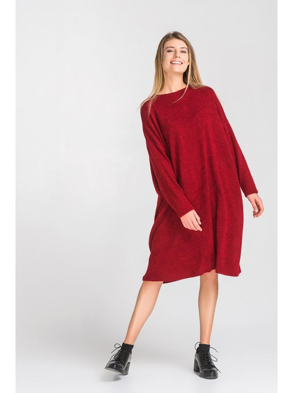Женское свободное ангоровое платье