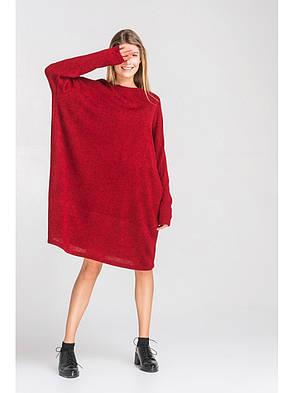 Женское свободное ангоровое платье, фото 2