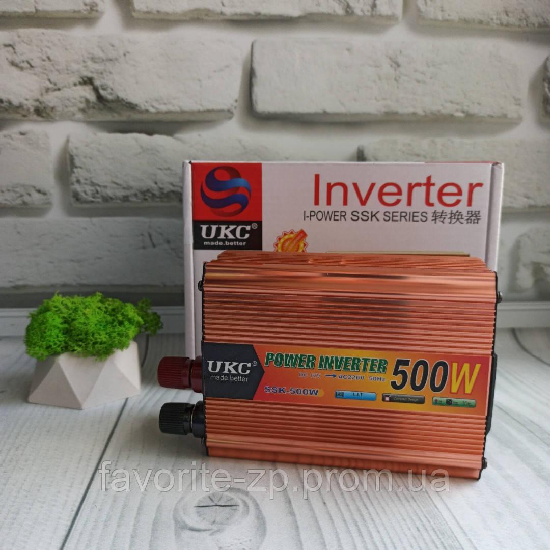 Преобразователь 500W Инвертор с 12в на 220в