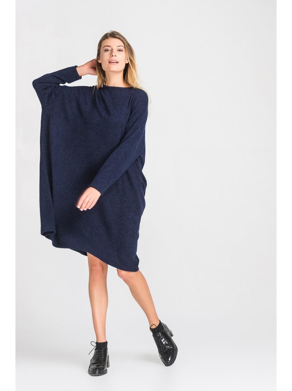 Женское ангоровое платье оверсайз