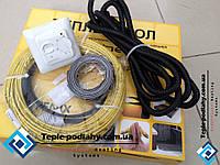 Електрический обогревательный кабель для теплого пола в комнате, 9,2 м2 (1850 вт) (+ подарок), фото 1