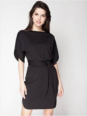 Сукня трикотажне чорне, фото 2