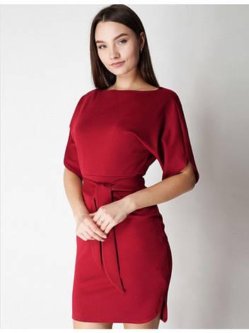 Платье трикотажное в бордовом цвете. Сезон весна - лето, фото 2