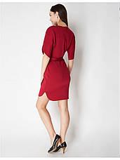 Платье трикотажное в бордовом цвете. Сезон весна - лето, фото 3